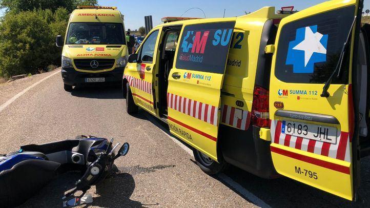 Grave un motorista tras sufrir un accidente en la A-3