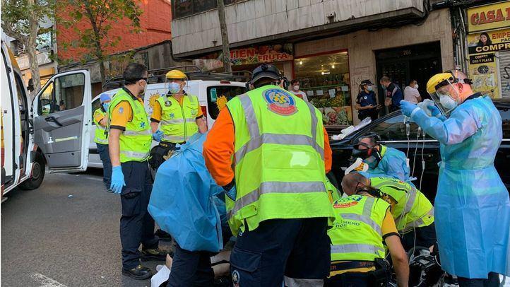 Muere atropellado por una moto cuando cruzaba indebidamente la calle Alcalá