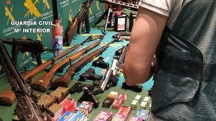 Intervenidas más de 60 armas de fuego de una red de tráfico para el crimen organizado