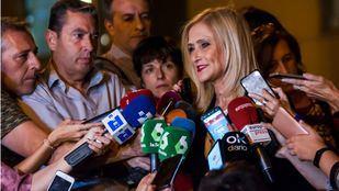 Cristina Cifuentes sale de la Audiencia Nacional, tras declarar como imputada en el 'caso Púnica'