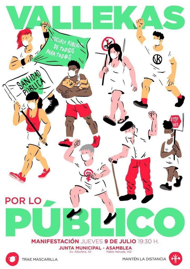Vallecas se echa a la calle para defender los servicios públicos