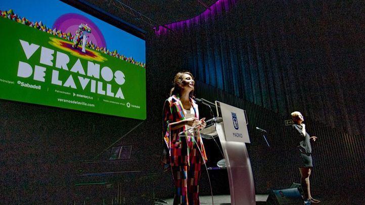Andrea Levy, delegada  de Cultura del Ayuntamiento de Madrid, durante la presentación de los Veranos De la Villa