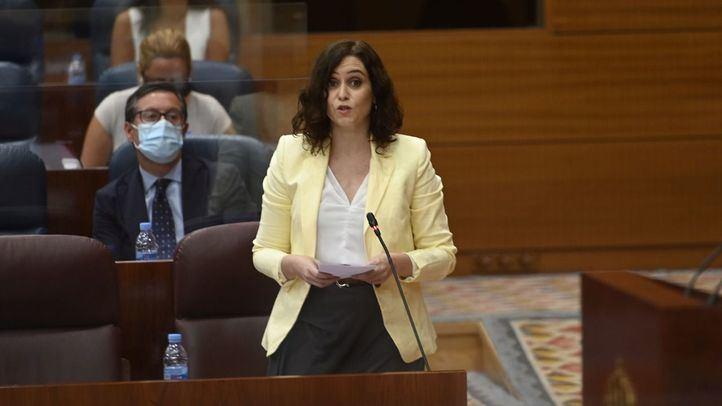 Ayuso en la Asamblea de Madrid.