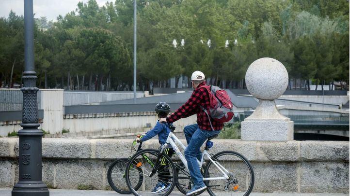 El primer carril bici provisional en Madrid se ejecutará esta semana