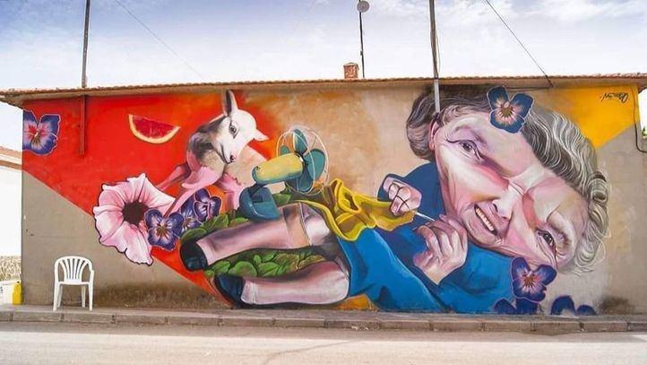 Obra de uno de los artistas que participan en la Liga Nacional del Graffiti.