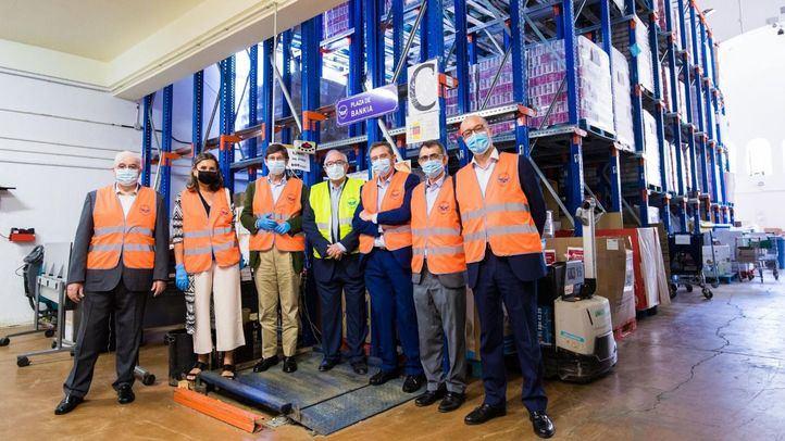 Goirigolzarri visita el Banco de Alimentos de Madrid y FESBAL, que reparten 16 millones de kilos de comida al mes durante el Covid