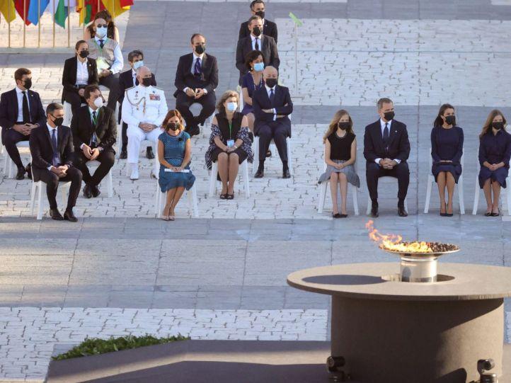 El Rey apela al respeto y entendimiento en el homenaje de Estado a las víctimas del Covid-19
