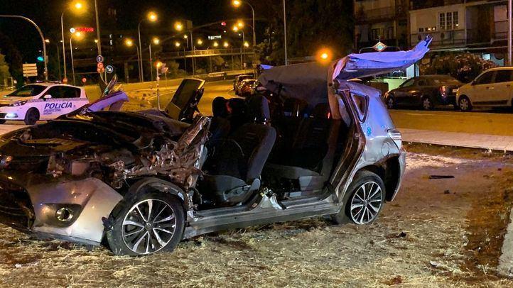 Accidente de tráfico en la calle Alcalá.