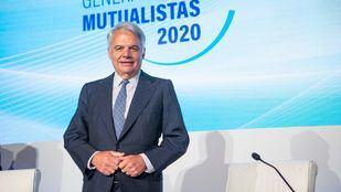El Presidente del Grupo Mutua Madrileña, Ignacio Garralda, durante la Junta General