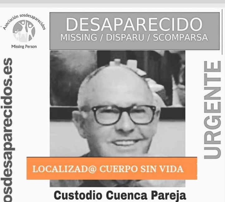 Localizado muerto el hombre desaparecido en El Goloso
