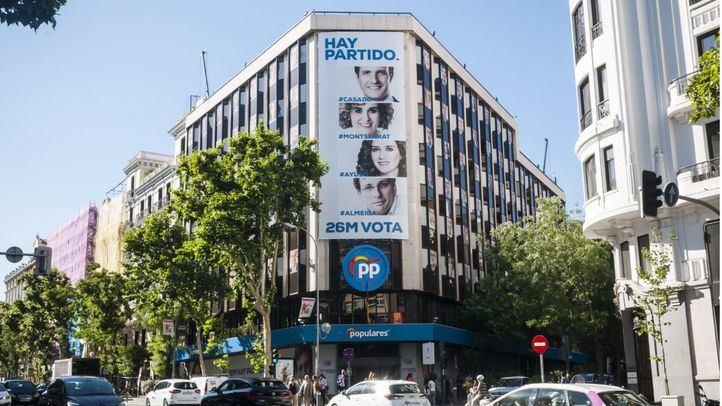 Sede del Partido Popular en la calle Génova.