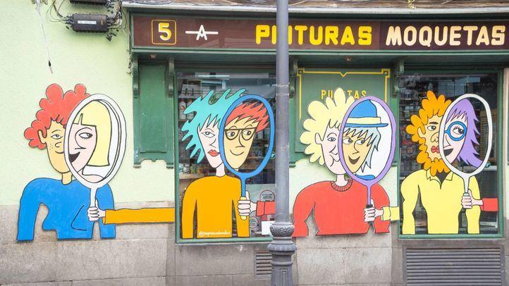 Una de las propuestas de arte urbano que se puede ver en Lavapiés