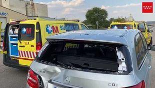 Grave un ciclista al estamparse contra un vehículo que paró de repente en la M-506
