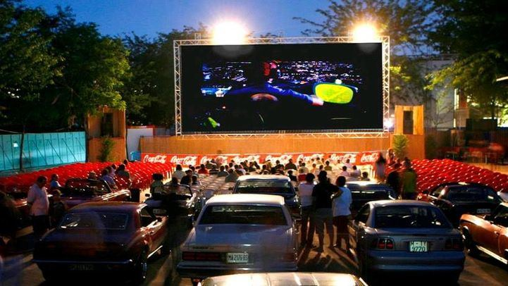Cine de Verano en el Parque de la Bombilla en una imagen de archivo