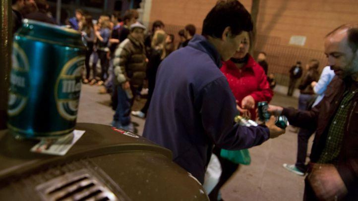 Hasta 4.835 sanciones por botellones se han impuesto en julio en Madrid