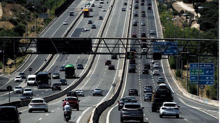 Retenciones en las principales autovías de la región en la segunda fase de la operación salida