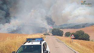 Desalojadas dos urbanizaciones por un incendio forestal en Valdepiélagos