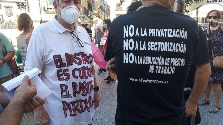 Quinto domingo de protestas de los comerciantes del Rastro