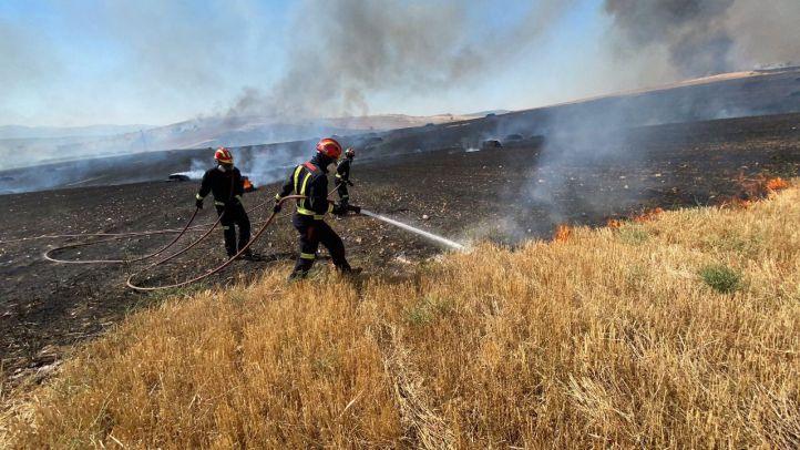 Detenido por negligencia grave en el incendio de Valdepiélagos