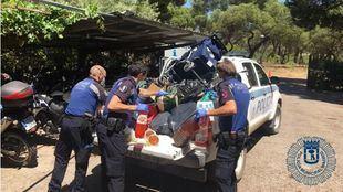 Requisada comida oculta en carritos de bebé que se vendía sin permiso en Casa de Campo
