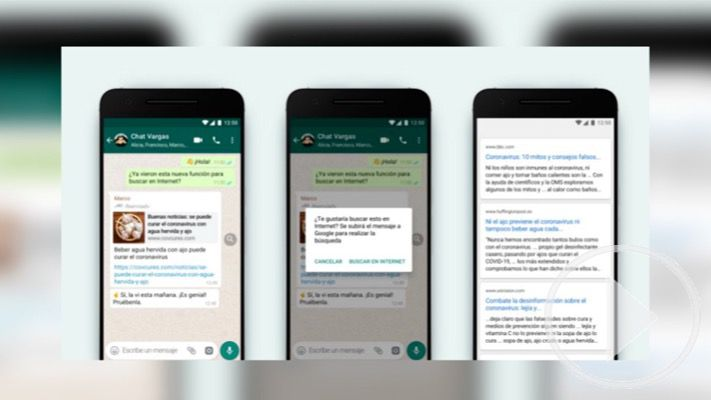 WhatsApp añade búsquedas en Internet para evitar fake news
