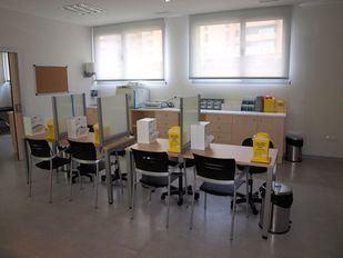 Centro de Salud Las Margaritas, Getafe, Inauguracion 28-03-2014.  Salida de extracciones.