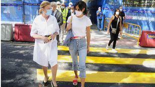 Un paso de peatones en Joaquín Costa mejora el tránsito durante las obras