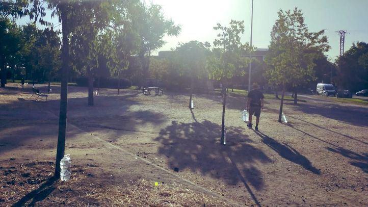Vecinos de Carabanchel toman la iniciativa de regar más de 65 árboles