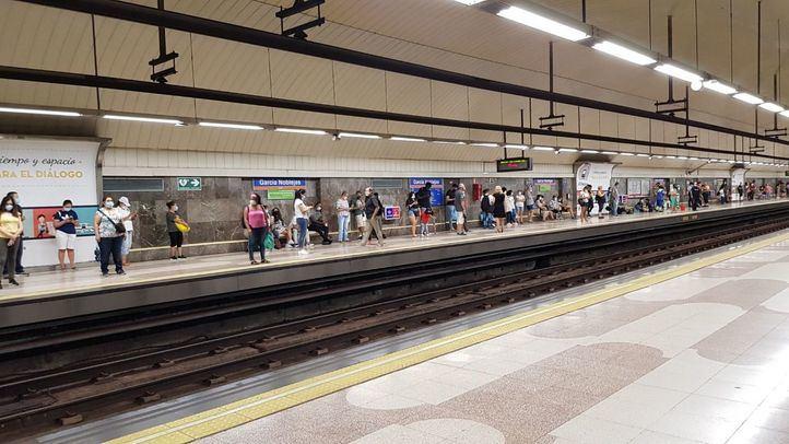 Corte en la línea 7 de Metro de Madrid por la acumulación de agua..