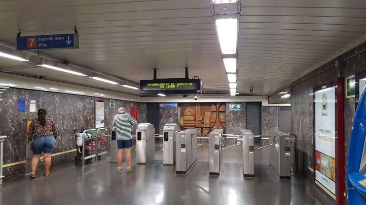 Cortes en las líneas 5 y 7 de metro de Madrid debido a las tormentas.
