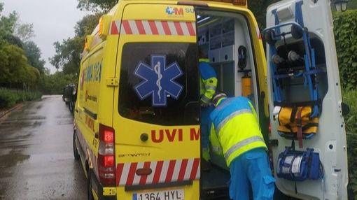 Herido en Torrelodones tras ser alcanzado por un rayo
