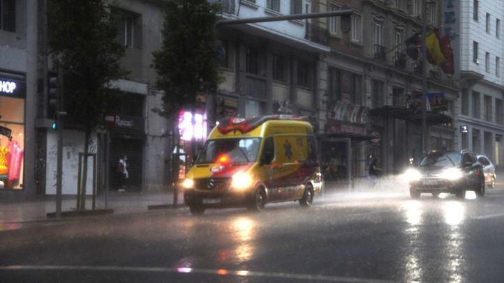 Una fuerte tormenta cae sobre Madrid