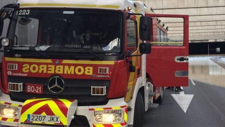 Arden dos aparatos de aire acondicionado en Alcobendas