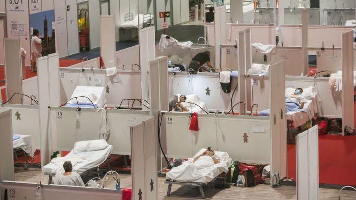 Hospital de Ifema en el momento más duro de la pandemia