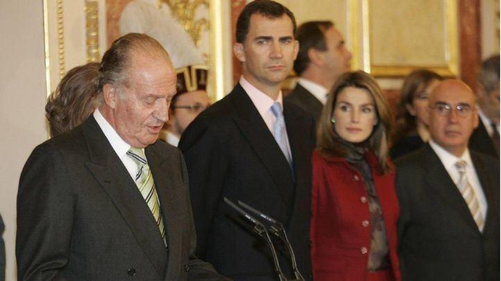 El Rey Juan Carlos junto al Rey Felipe VI en una imagen de archivo