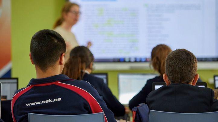 Imagen de unas de las aulas en los Colegios Internacionales SEK.