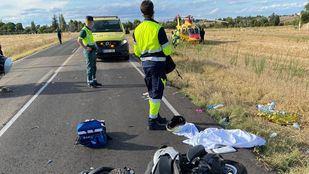 Accidente entre una moto y un coche en Casarrubuelos.