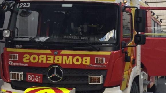 Camión de bomberos, en una foto de archivo