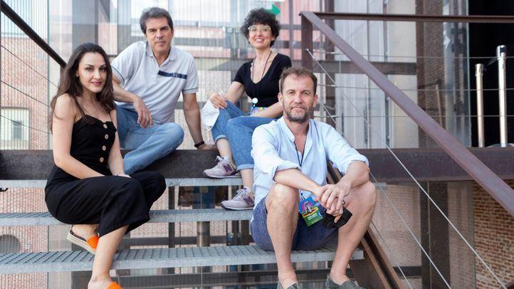 Delante, Ruth Terán y Miguel Huertas. Detrás, Manuel Lanza y Raquel Acinas.