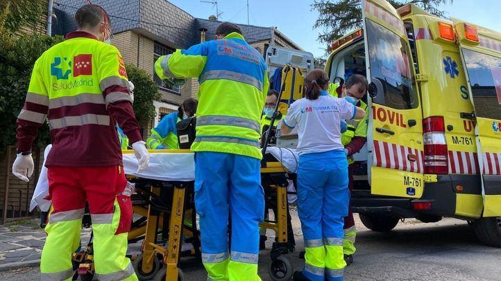 En estado crítico un trabajador por una intoxicación con pintura en Alpedrete