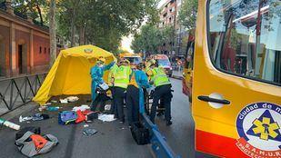 Los heridos fueron trasladados de gravedad al Marañón y al Clínico