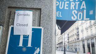 Hotel cerrado en el centro de Madrid