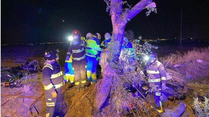 Buscan a los ocupantes del coche que se dieron a la fuga tras el choque de Móstoles