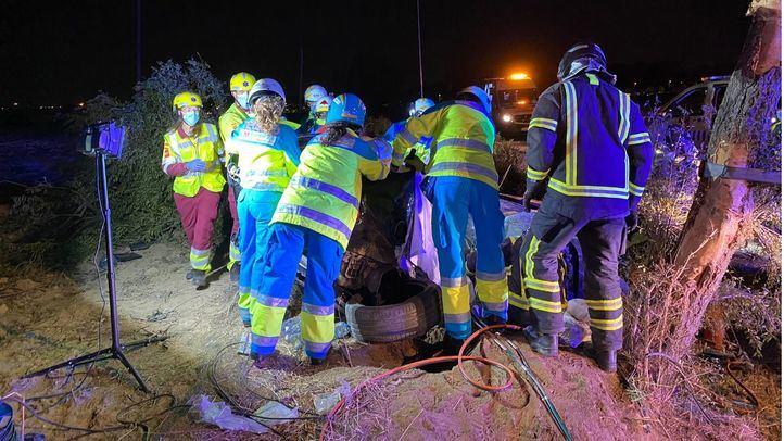 Identificados los ocupantes del coche que huyeron tras el accidente de Móstoles