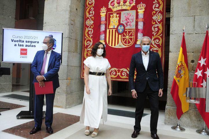 Isabel Díaz Ayuso presenta 'Vuelta segura a las aulas'