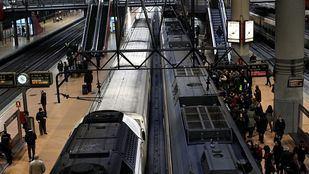 Líneas de cercanías C-2 y C-7 en la estación de Atocha.