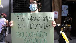 Protesta ante la Embajada de Brasil