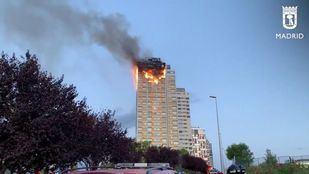 Momento del incendio