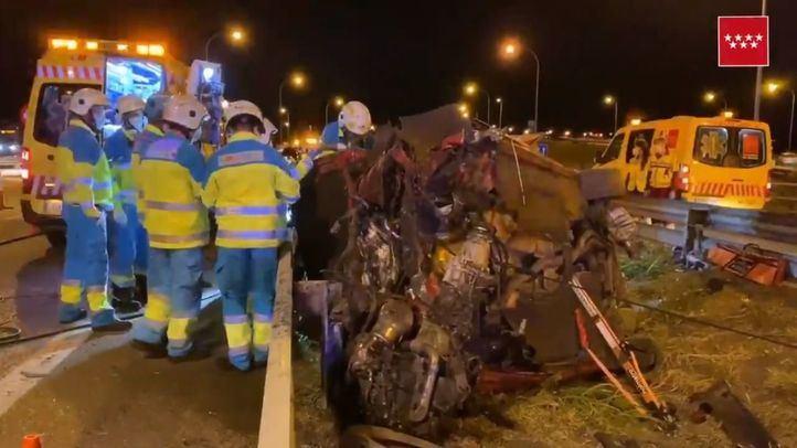 Accidente de tráfico en Fuenlabrada: cinco heridos, tres de ellos graves