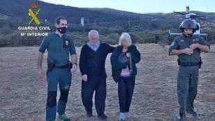 Rescatada en la Sierra de Guadarrama una pareja de ancianos desaparecida